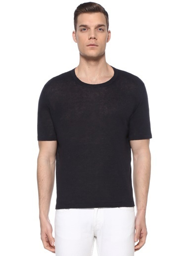 Alfredo Zacli Alfredo  Baskı Detaylı T-shirt 101521750 Mavi